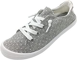 Women's Low Top Canvas Sneakers Slip-On Comfort Shoes