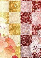 igsticker ポスター ウォールステッカー シール式ステッカー 飾り 728×1030㎜ B1 写真 フォト 壁 インテリア おしゃれ 剥がせる wall sticker poster 008716 フラワー 日本語・和柄 和風 和柄 花 フラワー 市松模様