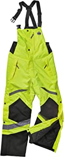 Insulated Thermal Bib Overalls, High Visibility, Weather-Resistant, 4XL, Ergodyne GloWear, Lime