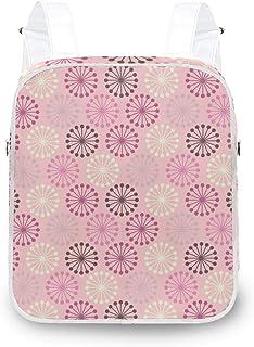 LUPINZ - Mochila de hombro con diseño de flores redondas, resistente