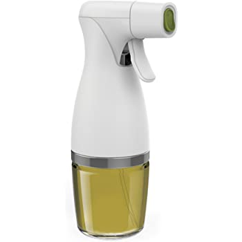 Prepara saludable comer disparador pulverizador de aceite para cocina y parrilla, simplemente de niebla, vidrio