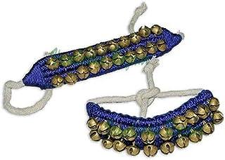 Vrindavan Bazaar Kathak Ghungroo Pair, (16 No. Ghungroo) Big Bells Best quality padded Tied with Cotton Cord Indian Classi...