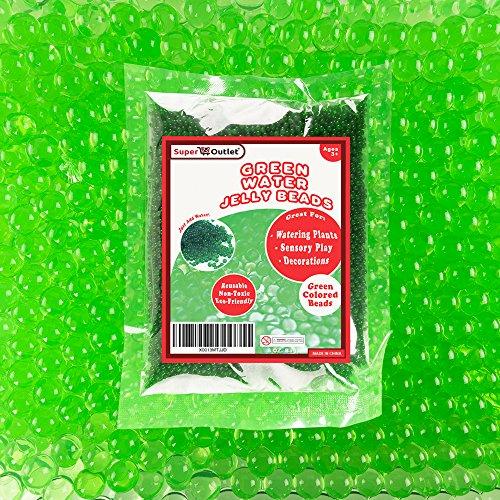 Green Water Gel Pearls Beads