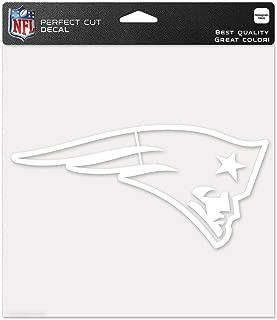 Wincraft NFL New England Patriots 8x8 White Logo Decal