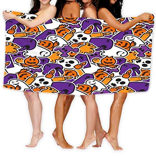Yocmre Badhanddoek van microvezel, voor volwassenen en duimen, Happy Halloween griezelige horror background Happy Hall