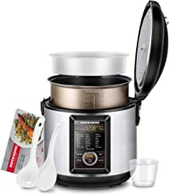 REDMOND Multicooker,5.25 Quart Electric Programmable Multi-Function Cooker with Digital Display,Stainless Steel Pot,52 Cook Modes,24-Hour Delay Timer - Slow Cooker, Rice Cooker, Steamer, Saute, Yogurt Maker, Hot Pot and Warmer(M23A)