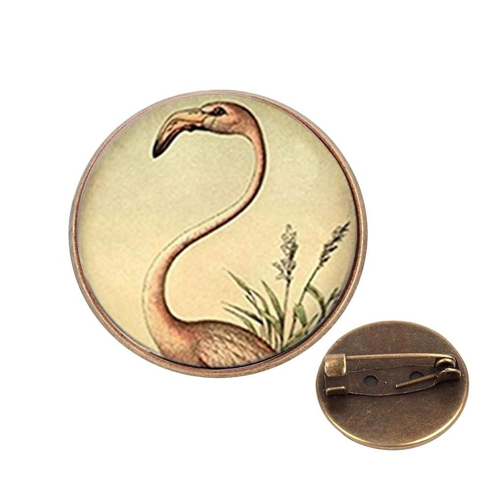 Pinback Buttons Badges Pins Pink Flamingo Photo Tibet Silver Lapel Pin Brooch Clip Trendy Accessory Jacket T-Shirt Bag Hat Shoe