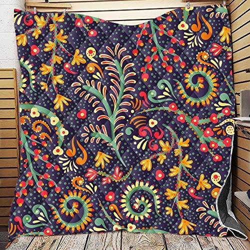 Fansu Tagesdecke Bettüberwurf Steppdecke Mikrofaser Doppelbett Einselbetten Tagesdecken Gesteppt Bettwäsche Sofaüberwurf Wohndecke 3D Mandala Gitter Drucken Bettdecke (Paisley-Muster,226 * 280cm)