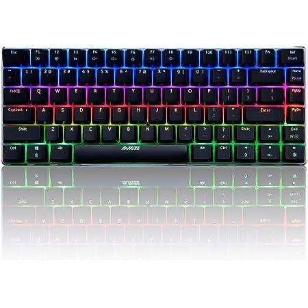 Docooler AK33 Teclado Mecánico Gaming RGB,E-Sport Teclado 82 Teclas USB Wired,100% Anti-ghosting para PC y Laptop (Interruptor Verde)