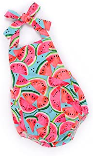 MUNI Cute Baby Girls Summer Clothes Watermelon Patterns Romper Sleeveless Jumpsuit Outfit