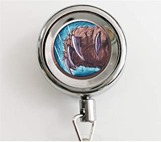 New Fashion Wow Pendant World of Warcraft Necklace Glass Dome Pendant Retractable Badge Holder Reel with Waterproof ID Holders & Keychain