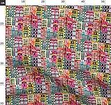 Portland, Wasserfarben, Stadt Stoffe - Individuell Bedruckt