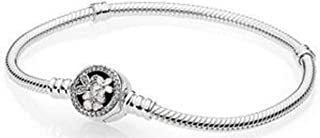 DLNCTD 100% 925 Sterling Silver Classic Gem Star Snowflake Rose Gold Snake Bone Basic Pan Bracelet Original Women Wedding Jewelry