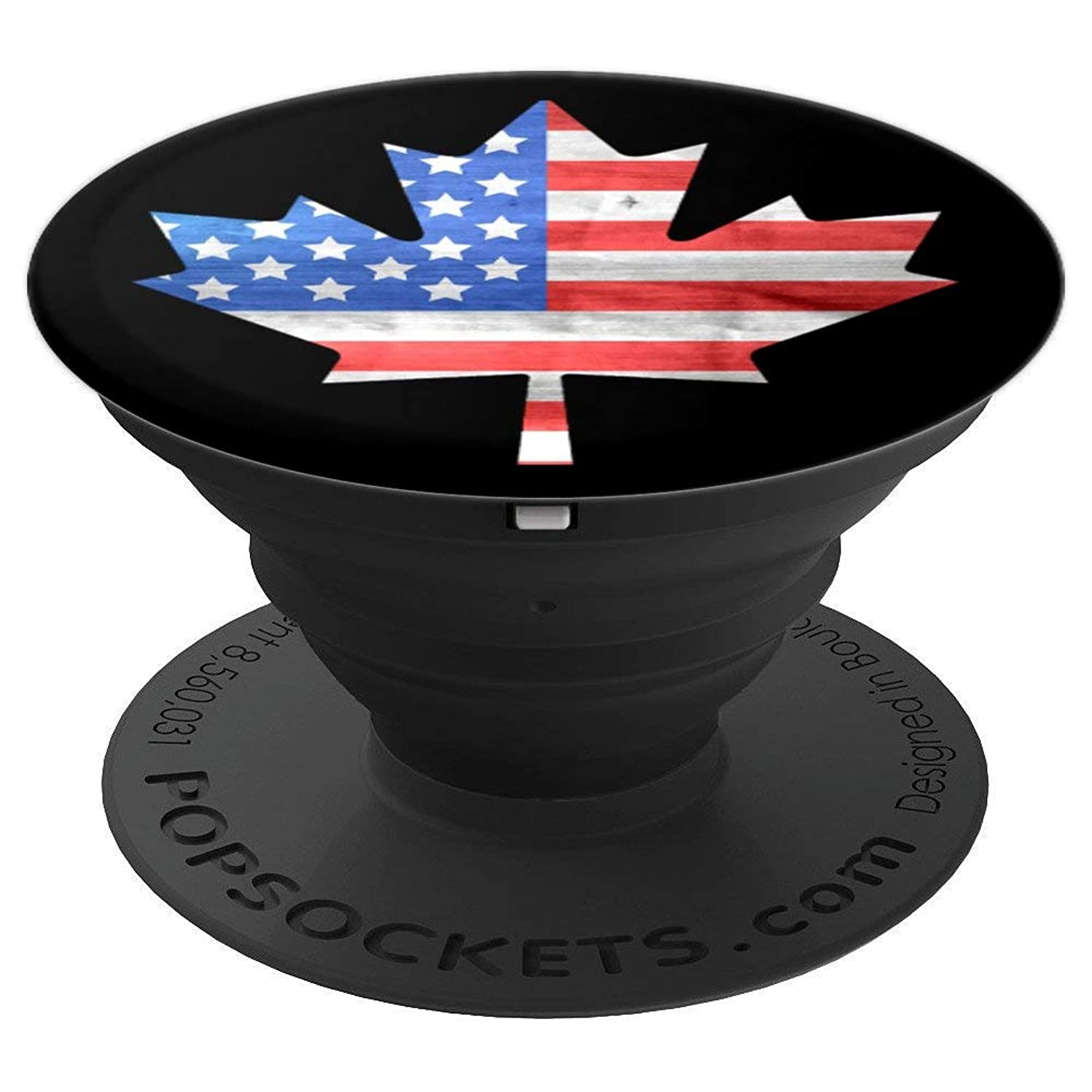 American flag on canadian maple leaf, canada phone grip - PopSockets Grip and Stand for Phones and Tablets