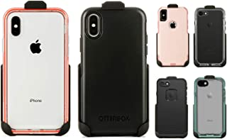 Belt Clip Holster Compatible with Otterbox Commuter Symmetry Series for iPhone X/Xs, Lifeproof Slam Series for iPhone X/Xs, Lifeproof Nuud Next Series for iPhone 7 iPhone 8 (Case Not Included)
