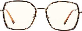 Lurrose Óculos de Bloqueio de Luz Azul Óculos Retrô de Metal Anti-Fadiga Ocular para Mulheres Homens Telefones Computadore...