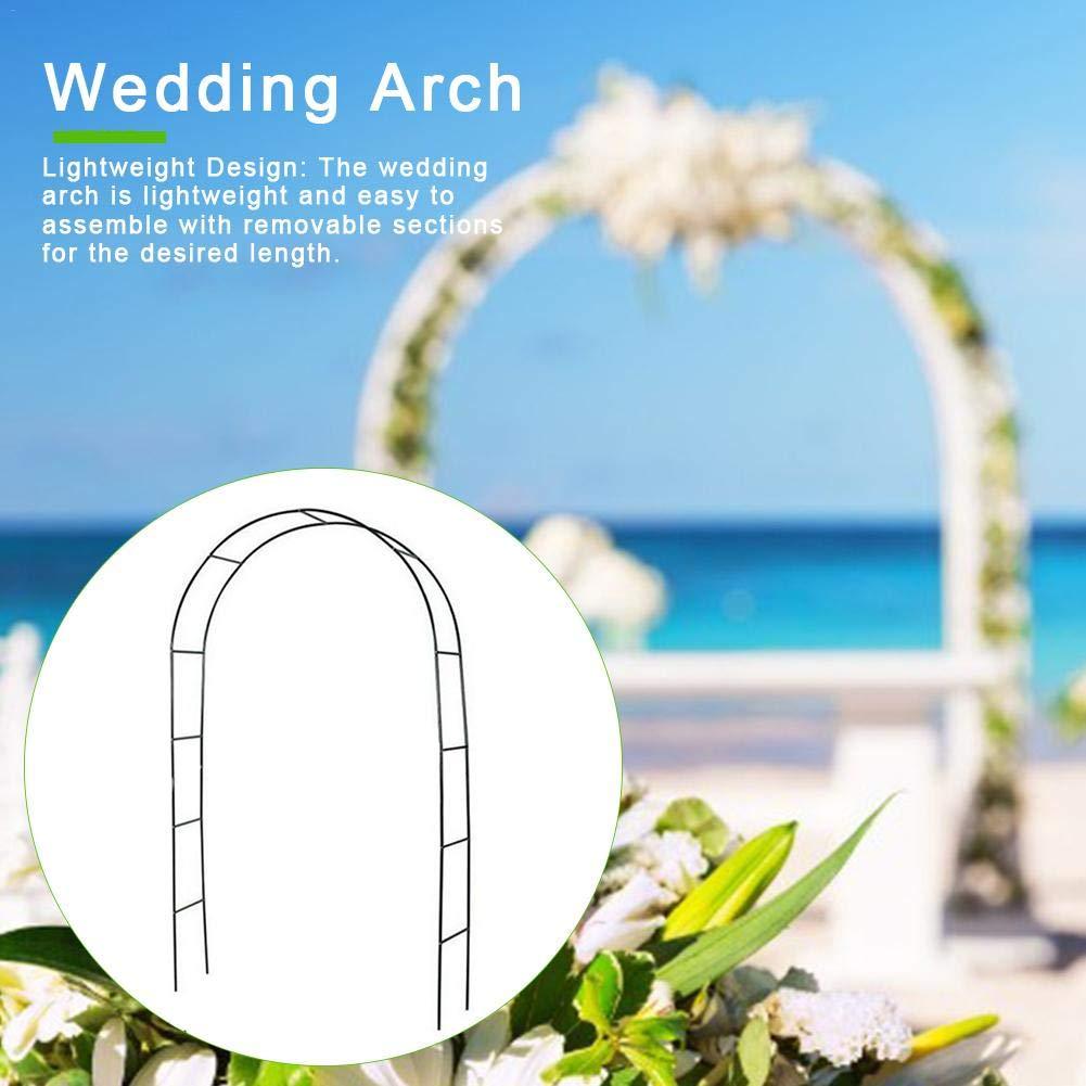 Arco de metal ligero de color blanco para decoración de boda, jardín, novia, fiesta, decoración de metal, para boda, cumpleaños, boda, decoración de fiesta de 240 x 140 x 38 cm: Amazon.es: Hogar