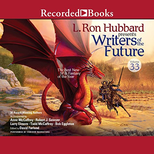 L. Ron Hubbard Presents: Writers of the Future, Volume 33                   By:                                                                                                                                 Dustin Steinacker,                                                                                        Sean Hazlett,                                                                                        Anton Rose,                   and others                          Narrated by:                                                                                                                                 Corey Allen,                                                                                        Morgan Hallett,                                                                                        Brian Hutchison,                   and others                 Length: 11 hrs and 23 mins     Not rated yet     Overall 0.0