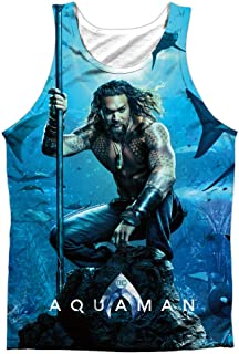 2b6bea3cf4438 Aquaman Movie Poster Unisex Adult Front Print Sublimated Tank Top for Men  and Women