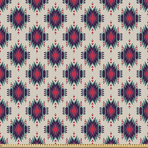 ABAKUHAUS İkat Tela por Metro, Peruana Tradicional Mexicana, Microfibra Decorativa para Artes y Manualidades, 3M (230x300cm), Multicolor
