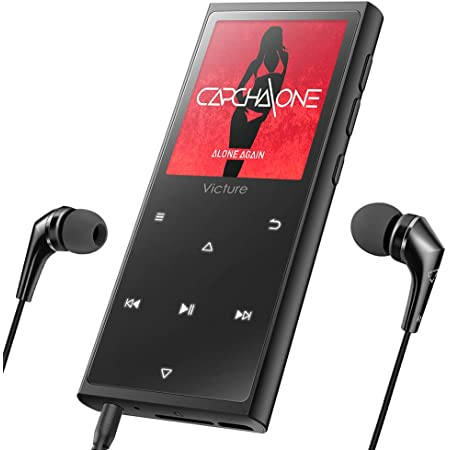 Victure Bluetoothアップデート MP3プレーヤー 光るタッチボタン スピーカー内臓 FMラジオ HIFI超高音質 デジタルオーディオプレーヤー 16GB内蔵容量 最大128GBまで拡張可能 歩数計 合金制 1.8イン多彩スクリーン M5X