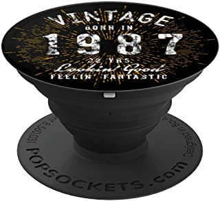 Born in 1987 Gift for 32nd Birthday - PopSockets Grip and Stand for Phones and Tablets