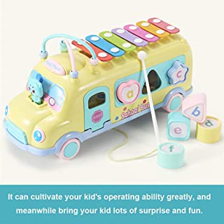 1111 New Simulation Piano Developmental Toys Rainbow Piano Car Toy for Kids Gifts, from US Warehouse