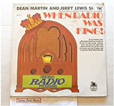 Dean Martin And Jerry Lewis Show When Radio Was King - Memorabilia Records 1974 - 1 Used Vinyl LP Record - 1974 Pressing MLP-714 Very Rare Factory Sealed - First broadcast in 1948 With Lucille Ball