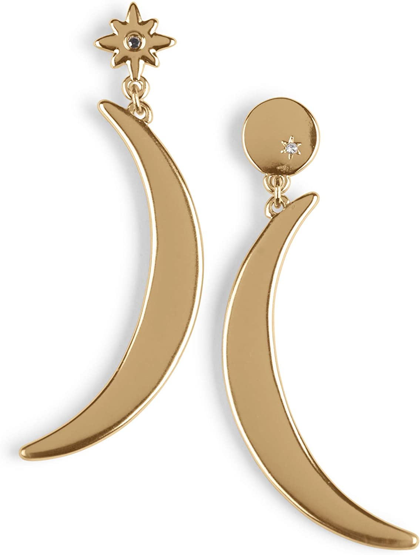 Lucky Brand Celestial Statement Earrings, Gold