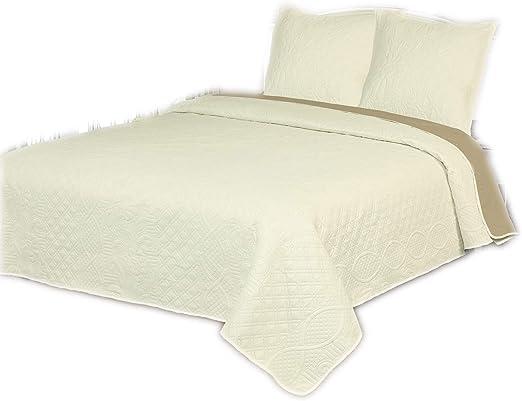 Bedsure Colcha Verano Cama 90 Blanco Marfil Colcha Bouti de