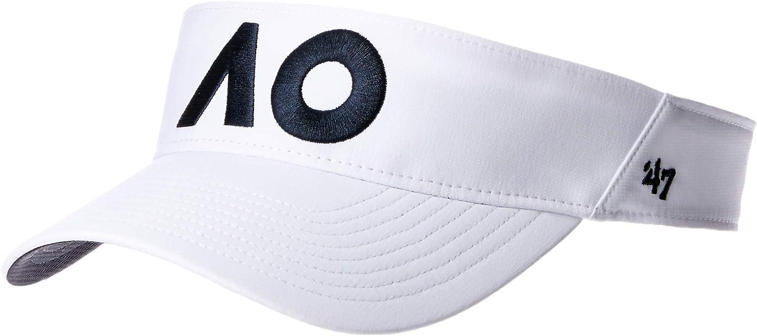 '47 Unisex AO19 White Elliot Visor, White, OSFA