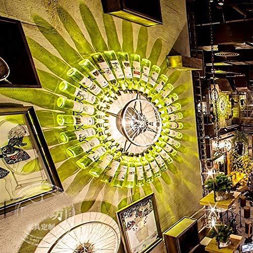 The only goede kwaliteit decoratie muziek restaurant bar wanddecoratie Retro Industrial Network Cafe persoonlijkheid bloemen plant fles grote wandlamp D1.2M Villa