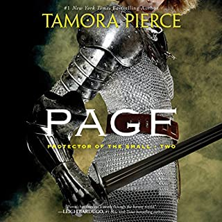 Page     Book 2 of the Protector of the Small Quartet              By:                                                                                                                                 Tamora Pierce                               Narrated by:                                                                                                                                 Bernadette Dunne                      Length: 6 hrs and 24 mins     820 ratings     Overall 4.8