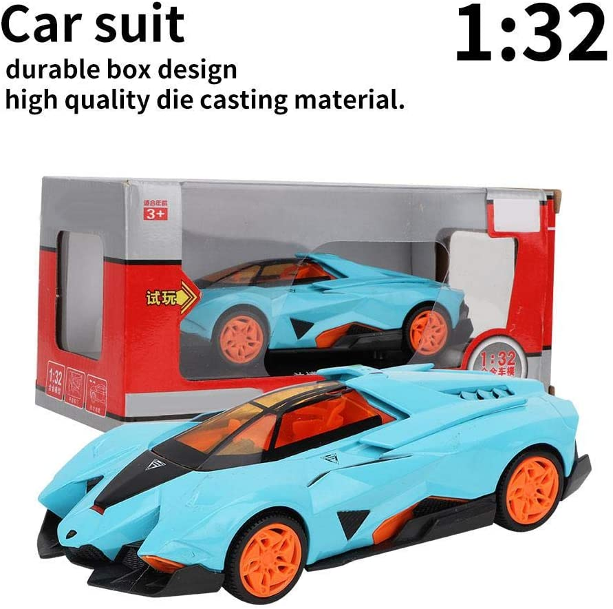 Mini Car Moderl 1:32 VB32213 CS0123 Light Car Educational Toy Children Boys Vehicle Model fit for Lamborghini Blue