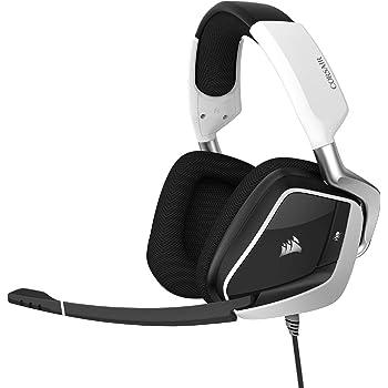 Corsair Void RGB Elite USB Premium Gaming Headset with 7.1 Surround Sound, White (CA-9011204-NA)