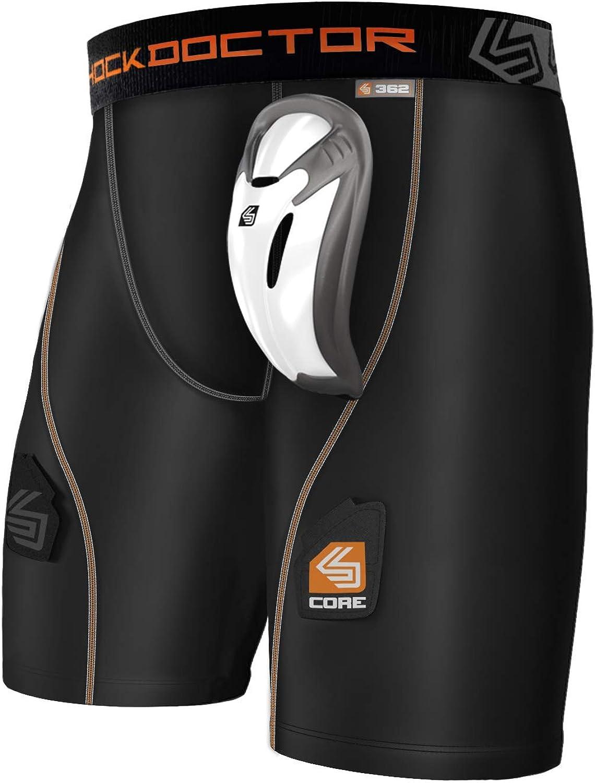 Shock Doctor Core Compression Hockey Shorts with Bio-Flex Cup, Men's & Boy's