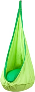 Driftsun Hammock Pod Kids Swing / Outdoor and Indoor Children's Hammock Chair Nook Sensory Seat - Hardware Included (Green)