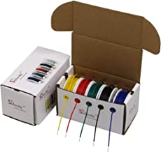 Striveday 20 AWG Hook Up Wire 1007 PVC Solid wire Kit box Electric wire 20 gauge 300V Cable (19.6ft Each Color)