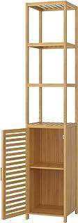 Homfa Estantería Bambú Baño Armario Alto para Cocina Sal