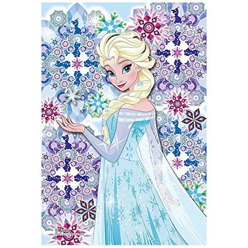 クリスタルタイル エルサ ディズニー Disney ジグソーパズル 70ピース プリズムプチ ジグソー パズル Puzzle クリア 透明 ピース ギフト プレゼント 誕生日プレゼント 贈り物 誕生日 クリスマス ステイホーム おうち時間 お家 アナと雪の