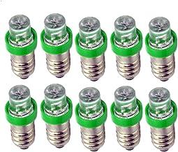 Ruiandsion 10 stks 12 V E10 LED Lamp Wit/Blauw/Rood/Groen/Geel E10 Base LED Lamp Upgrade voor Koplampen Zaklampen Koplamp ...