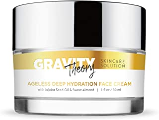 Gravity Theory Skincare Solution - Ageless Deep Hydration Face Cream With Jojoba Seed Oil & Sweet Almond - Natural Anti Aging Moisturizer…