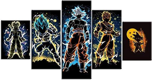 Anime Dragon Ball Z Goku Wall Scroll Poster Home Decor Art Cos Painting Gift #4