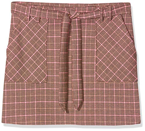 Springfield 6.0.Franq.Mini Cuadros Falda, Multicolor (Multicolor 77), Large (Tamaño del Fabricante: L) para Mujer