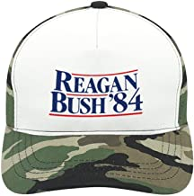 WYL S Reagan Bush '84 Suitable for Men and Women, Army Green Baseball Cap, Adjustable Cap Circumference.