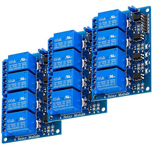 AZDelivery 3 x 4-Relais Modul 5V mit Optokoppler Low-Level-Trigger kompatibel mit Arduino inklusive E-Book!
