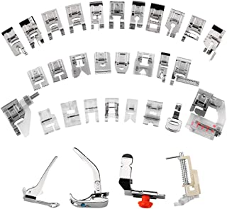 Bogoro 11 PCS Cucire Crafting Piedino Messo Piede Accessori di Ricambio per Macchine da Cucire Piedini Premistoffa Macchina da Cucire Universali Accessori di Ricambio per Macchine da Cucire