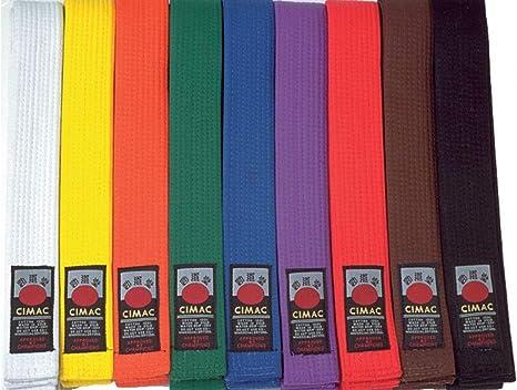 Judo Teakwondo Martial Arts Multiple Colours Blitz Karate Belt Plain Coloured