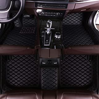 8X-SPEED Custom Car Floor Mats for Lexus GS350 2012-2017 Full Coverage All Weather Protection Waterproof Non-Slip Leather Liner Set Black
