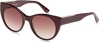 نظارات شمسية لا كولور بلوك بتصميم بيضوي للنساء من لاكوست، لون احمر
